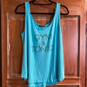 Nux Gym and Tonic Tank in Turquoise